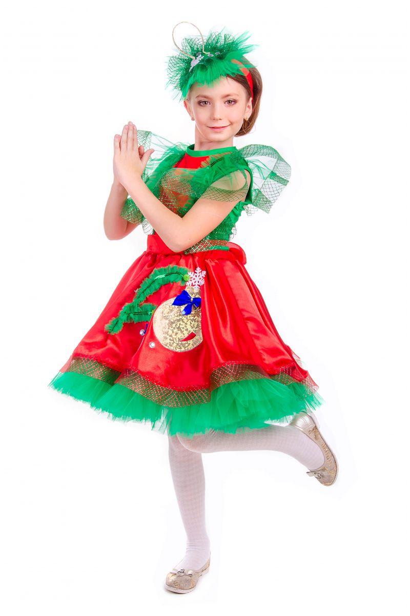 Масочка - «Елочная игрушка девочка» карнавальный костюм для девочки / фото №2553