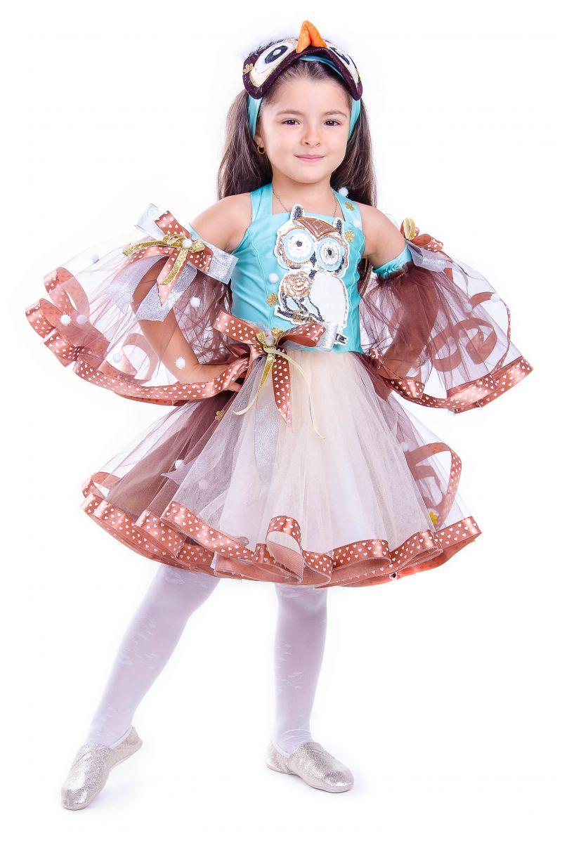 Масочка - «Сова» карнавальный костюм для девочки / фото №2566