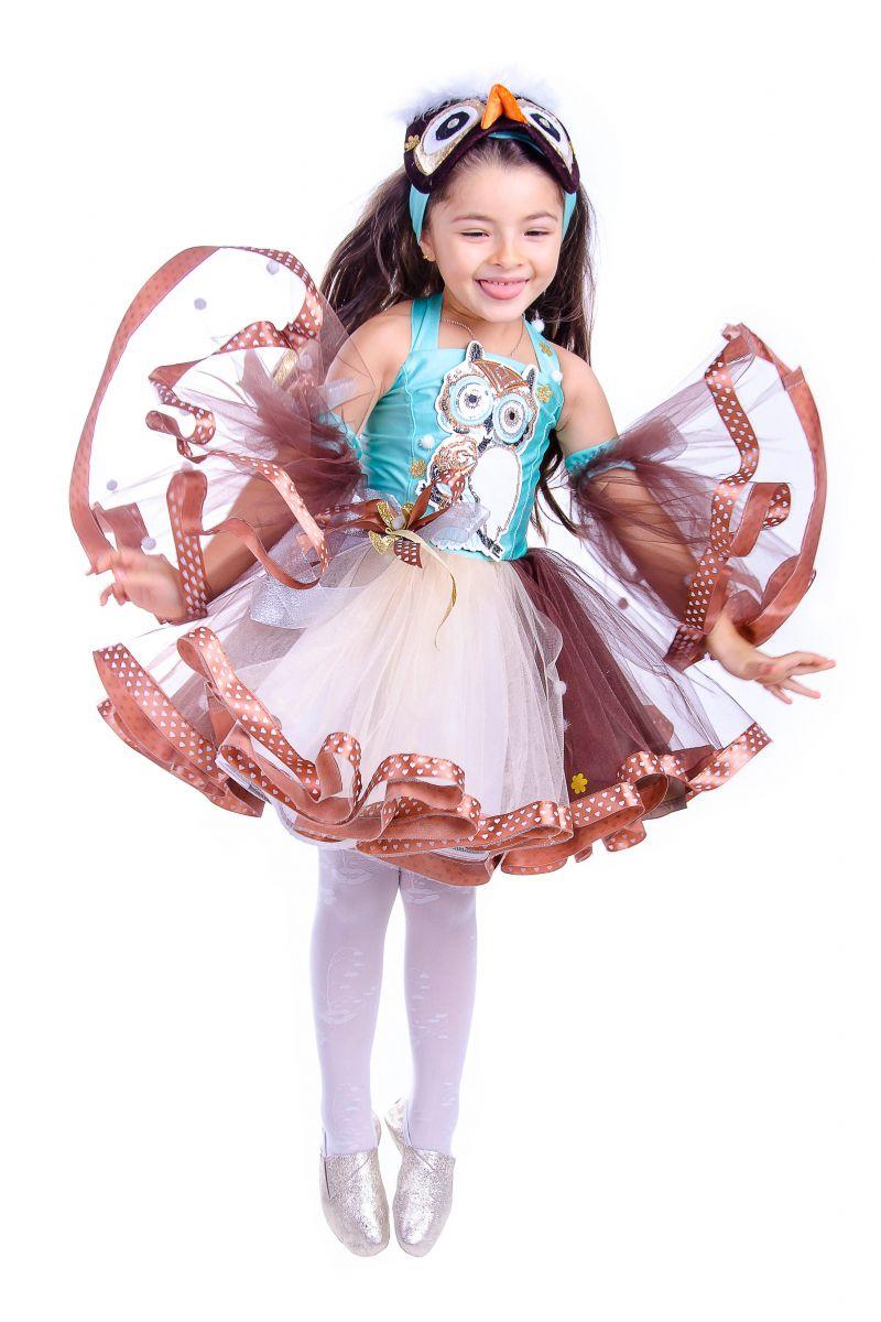 Масочка - «Сова» карнавальный костюм для девочки / фото №2567