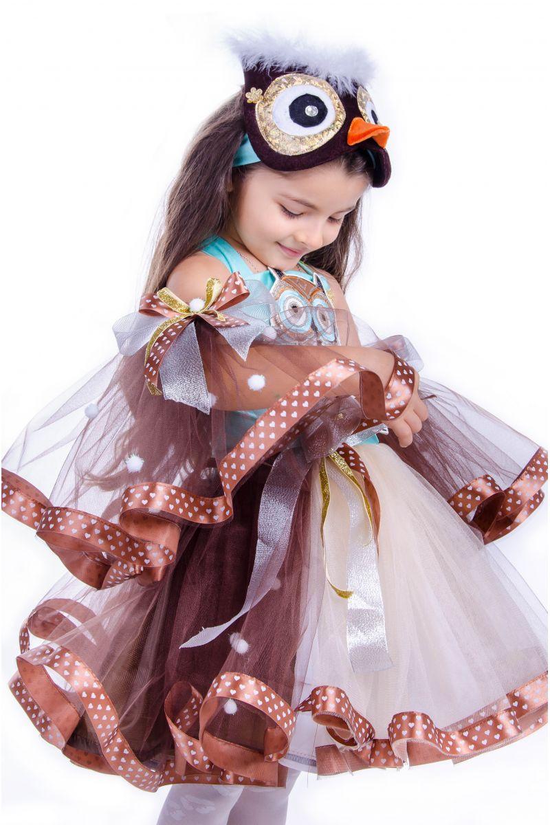 Масочка - «Сова» карнавальный костюм для девочки / фото №2568