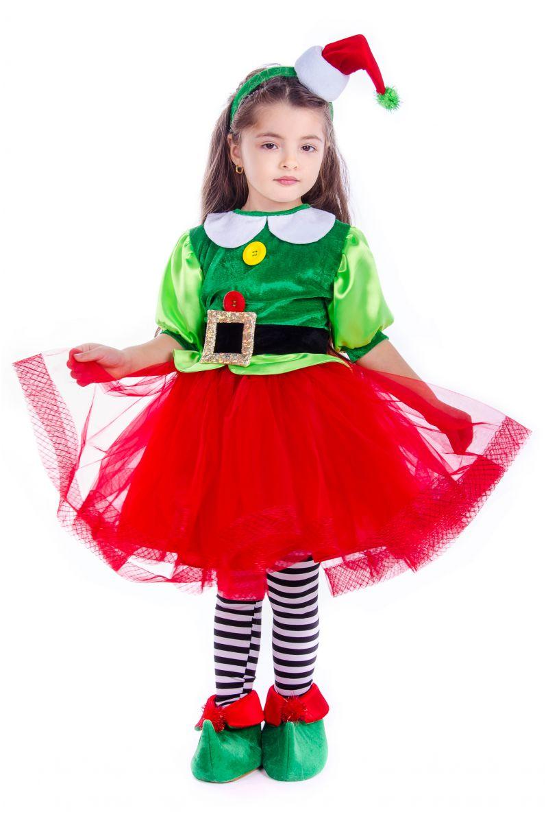 «Эльфийка новогодняя» карнавальный костюм для девочки