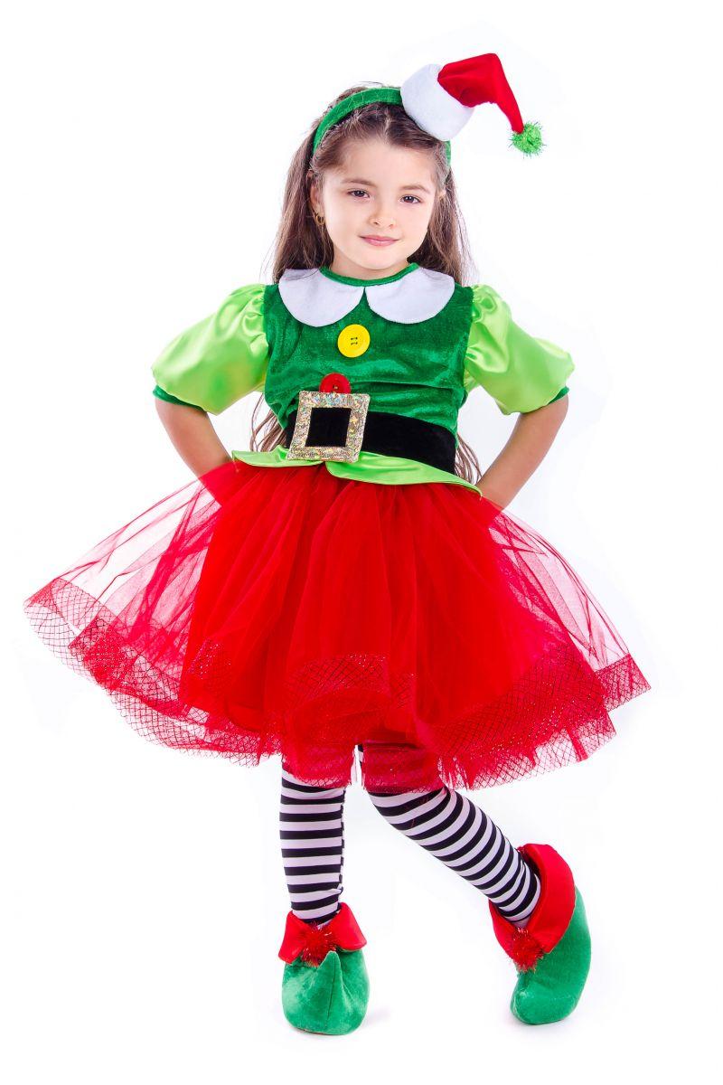 Масочка - «Эльфийка новогодняя» карнавальный костюм для девочки / фото №2581
