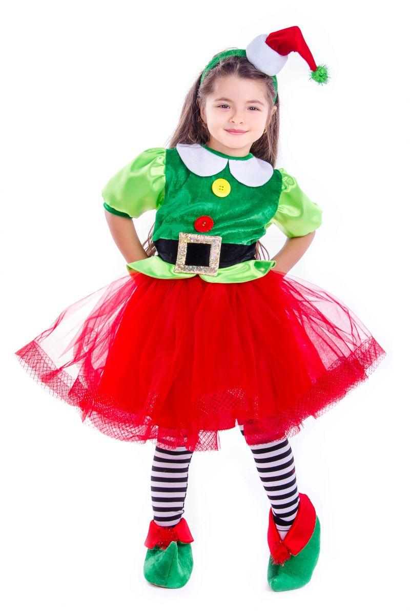 Масочка - «Эльфийка новогодняя» карнавальный костюм для девочки / фото №2582