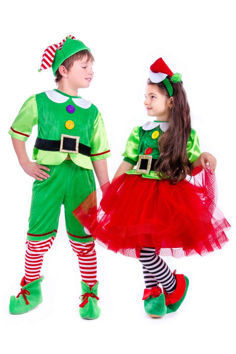 Масочка - «Эльфийка новогодняя» карнавальный костюм для девочки / фото №2584