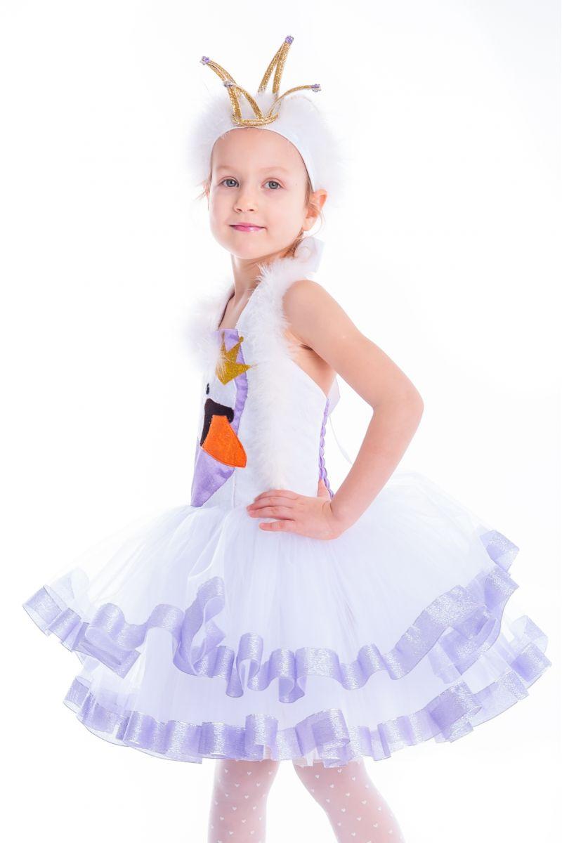 Масочка - «Лебедь» карнавальный костюм для девочки / фото №2635
