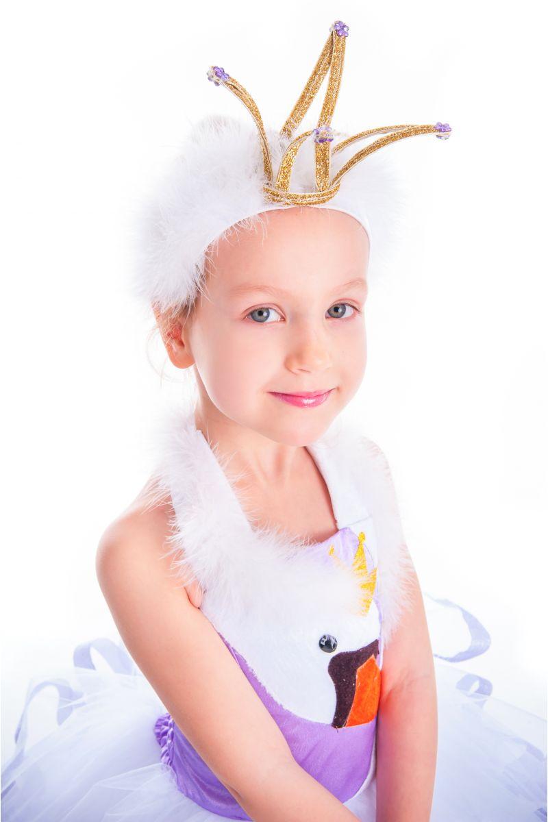 Масочка - «Лебедь» карнавальный костюм для девочки / фото №2637