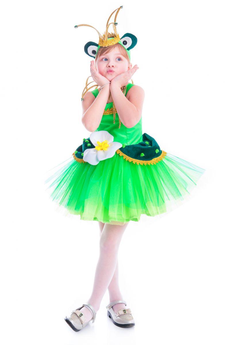 Масочка - «Лягушка-царевна» карнавальный костюм для девочки / фото №2640