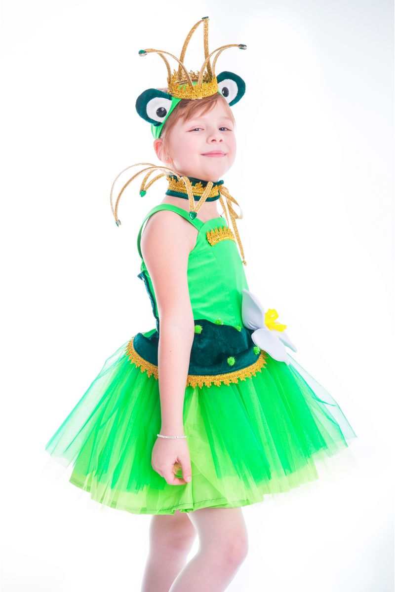 Масочка - «Лягушка-царевна» карнавальный костюм для девочки / фото №2642