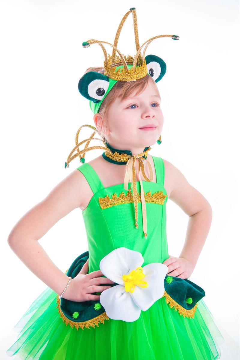 Масочка - «Лягушка-царевна» карнавальный костюм для девочки / фото №2643