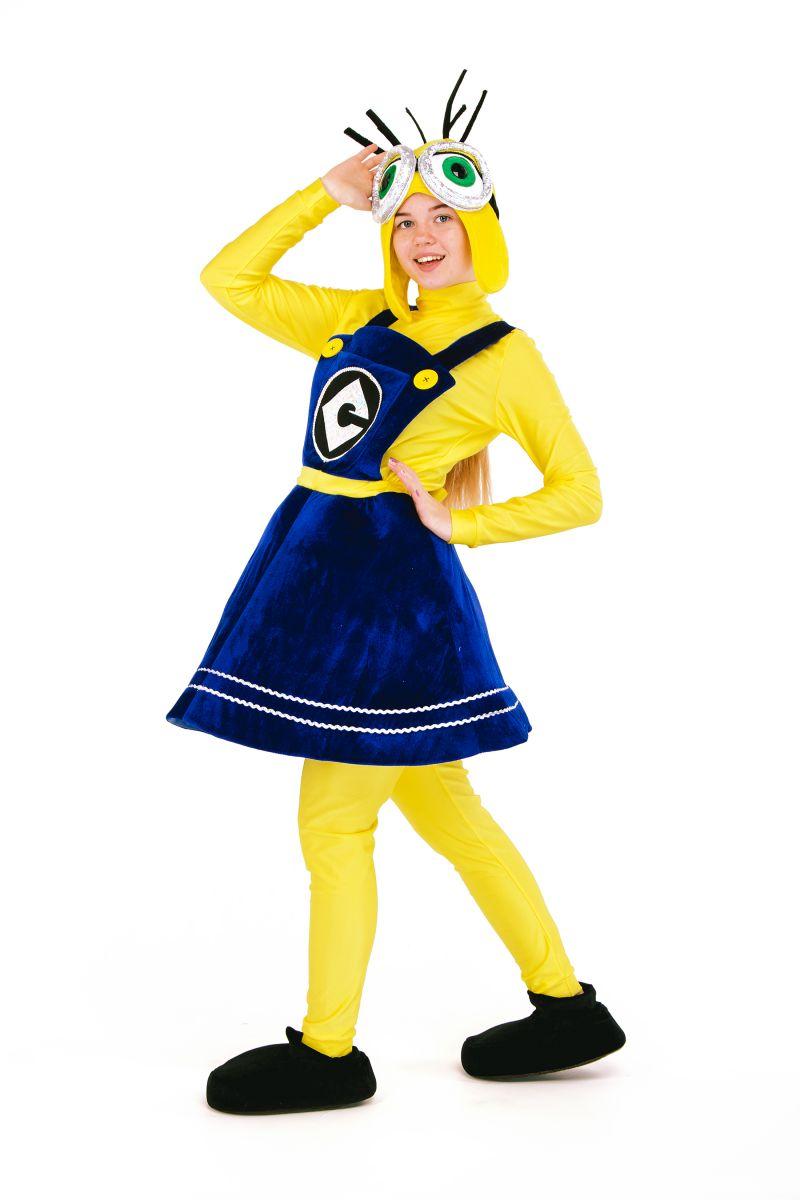 Масочка - «Миньон девочка» карнавальный костюм для аниматора / фото №2706