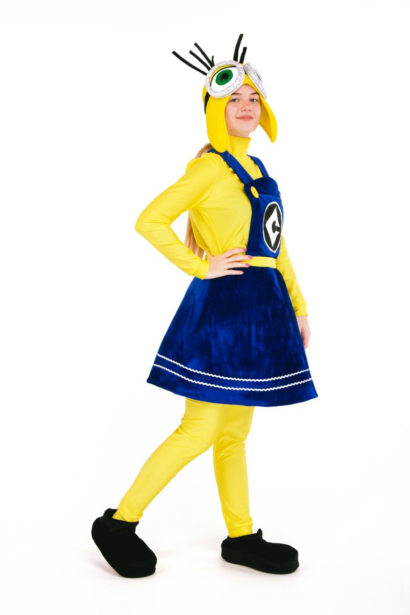 Масочка - «Миньон девочка» карнавальный костюм для аниматора / фото №2707
