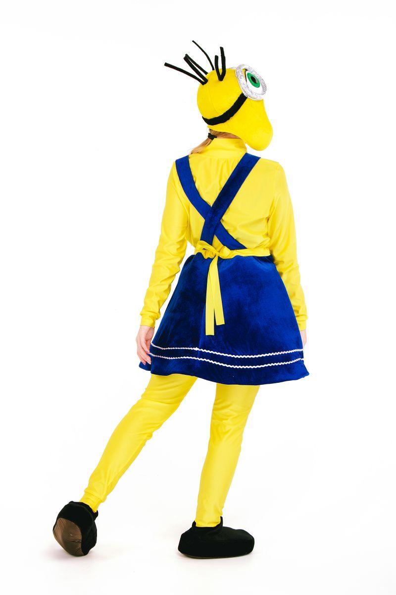 Масочка - «Миньон девочка» карнавальный костюм для аниматора / фото №2708