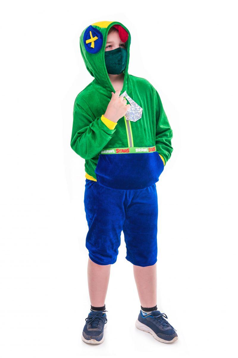 Масочка - Леон «Brawl Stars» карнавальный костюм для мальчика / фото №2723
