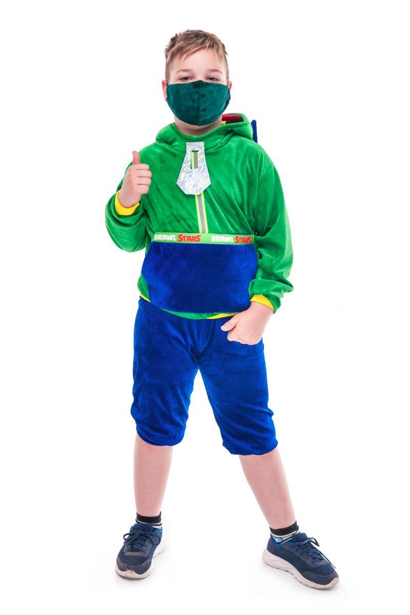 Масочка - Леон «Brawl Stars» карнавальный костюм для мальчика / фото №2724