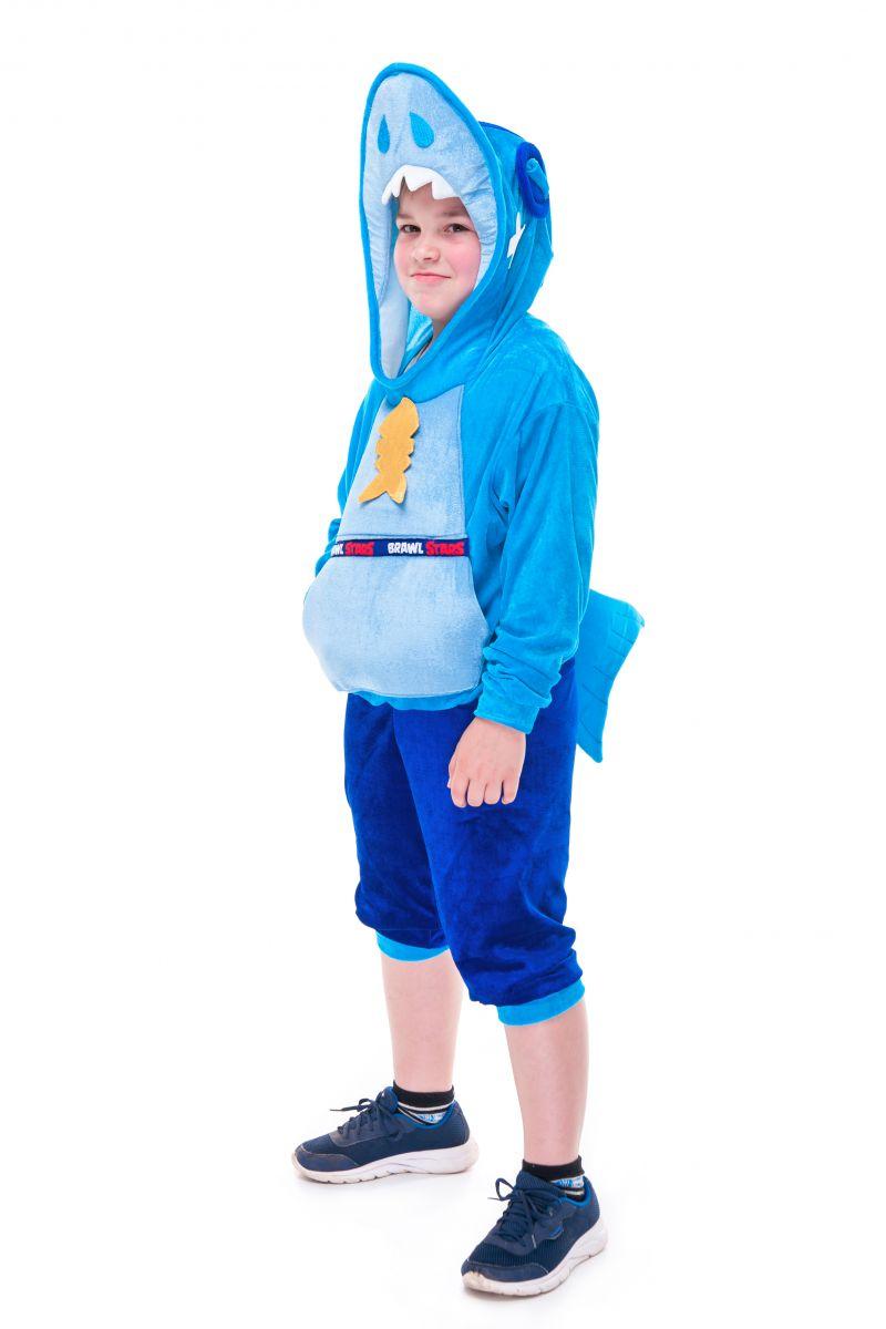 Масочка - Леон Акула «Brawl Stars» карнавальный костюм для мальчика / фото №2733