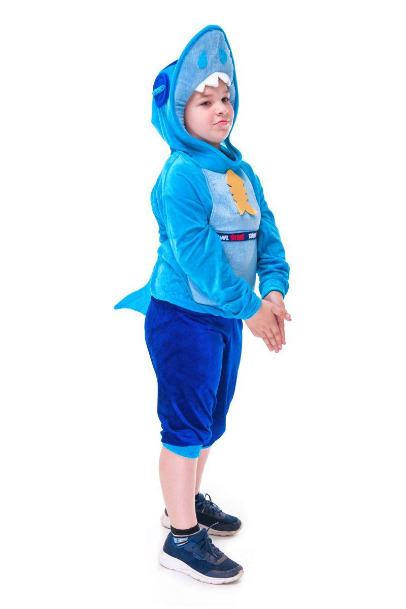 Масочка - Леон Акула «Brawl Stars» карнавальный костюм для мальчика / фото №2734