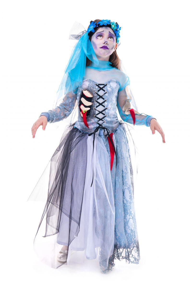 Масочка - «Мертвая невеста» карнавальный костюм для девочки / фото №2754
