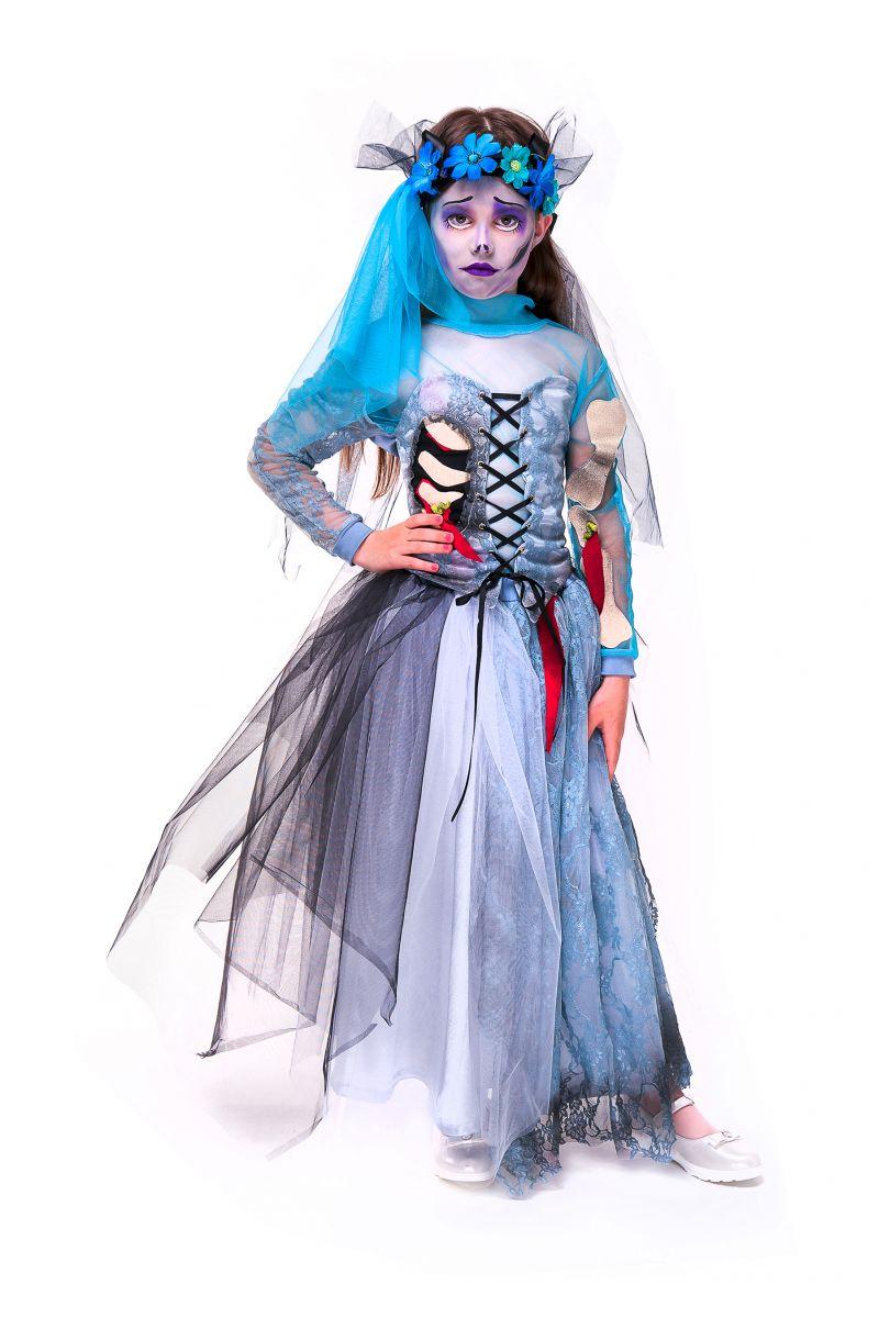 Масочка - «Мертвая невеста» карнавальный костюм для девочки / фото №2756