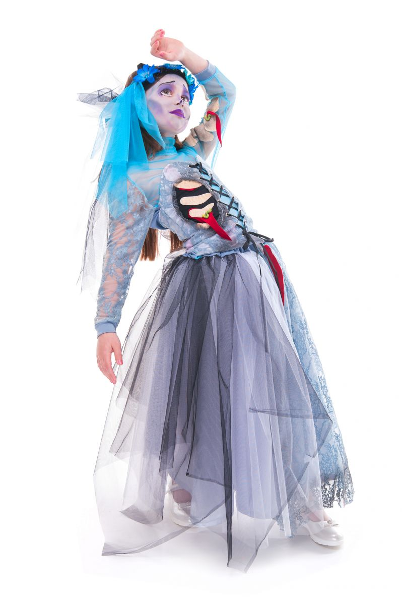 Масочка - «Мертвая невеста» карнавальный костюм для девочки / фото №2759
