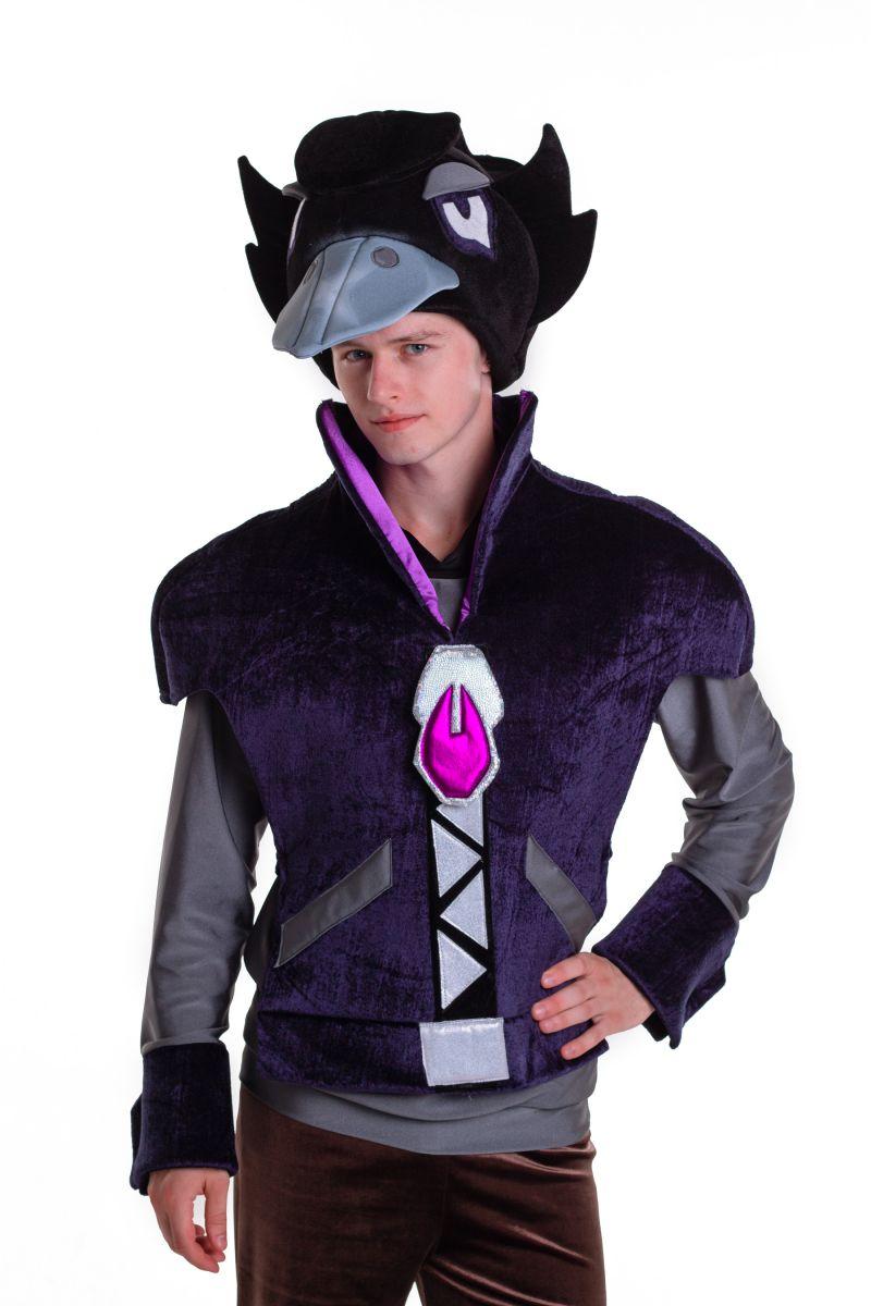 Масочка - Ворон «Brawl Stars» карнавальный костюм для аниматора / фото №2770