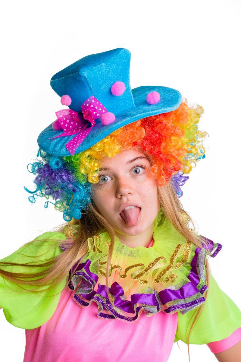 Масочка - Клоунесса карнавальный костюм для взрослых / фото №2784