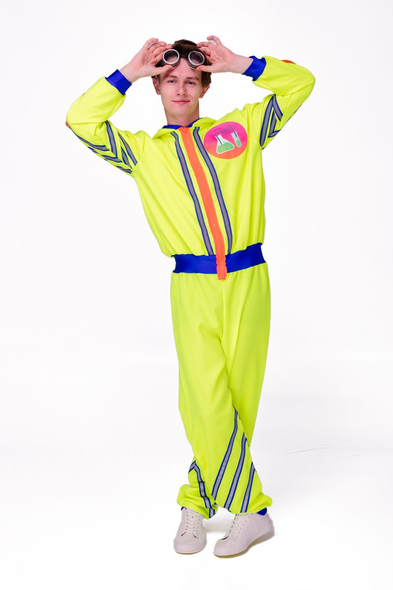 Масочка - Химик «Научная вечеринка» карнавальный костюм для аниматоров / фото №2820