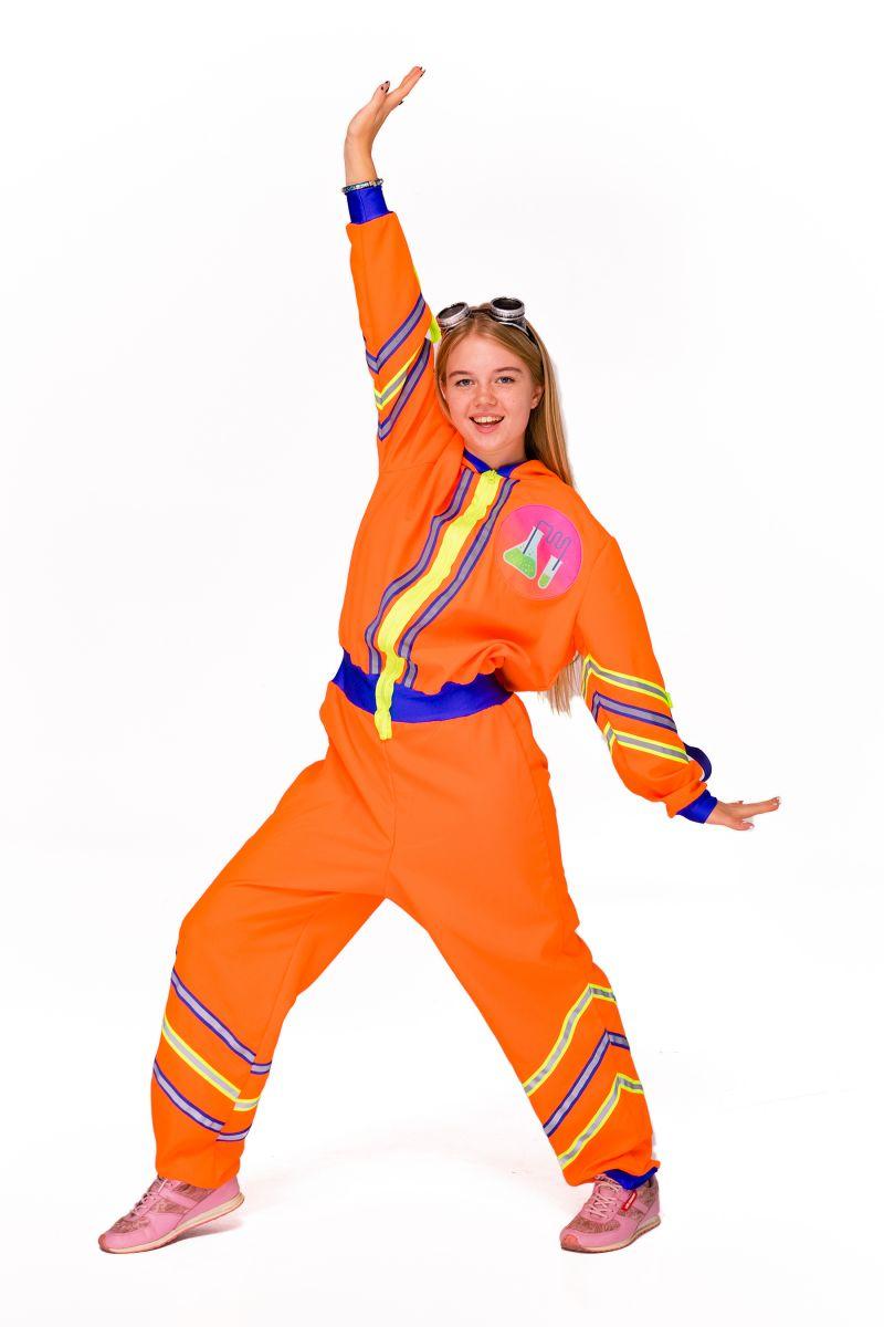 Масочка - Химик девочка «Научная вечеринка» карнавальный костюм для аниматоров / фото №2825