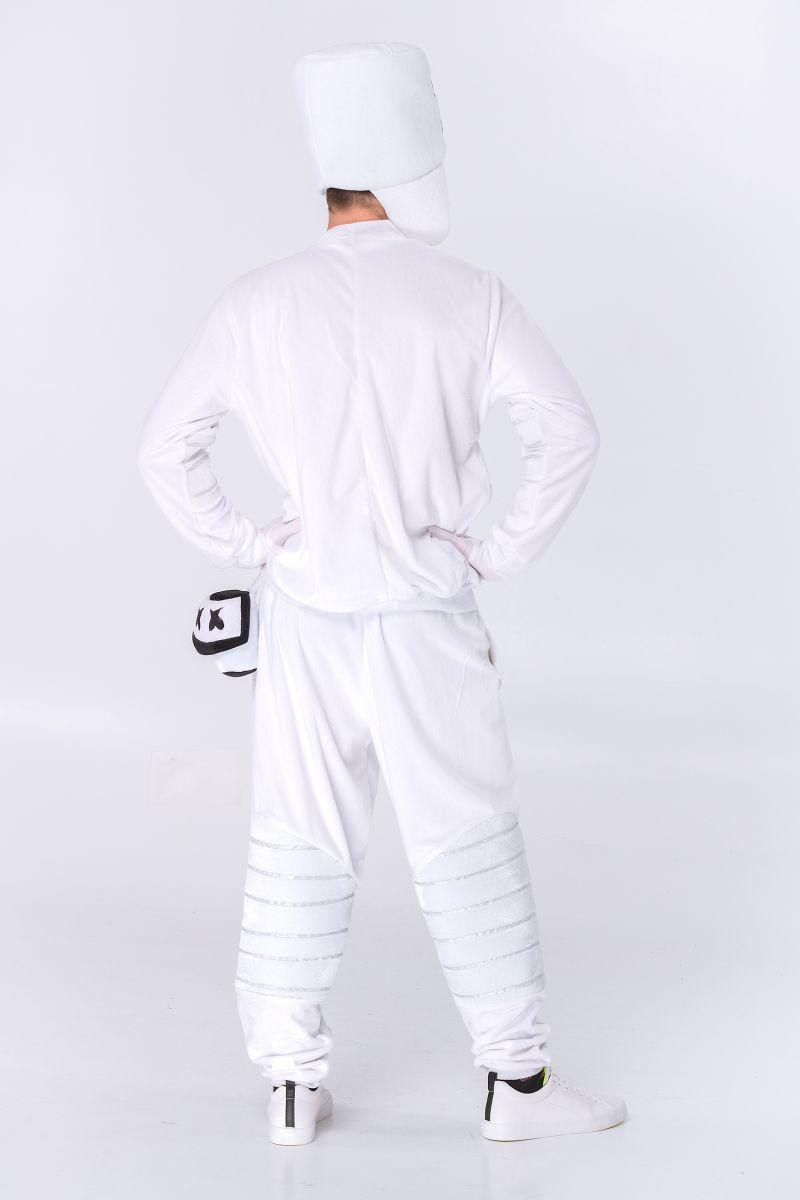 Масочка - Маршмеллоу «DJ Marshmello» карнавальный костюм для аниматоров / фото №2848