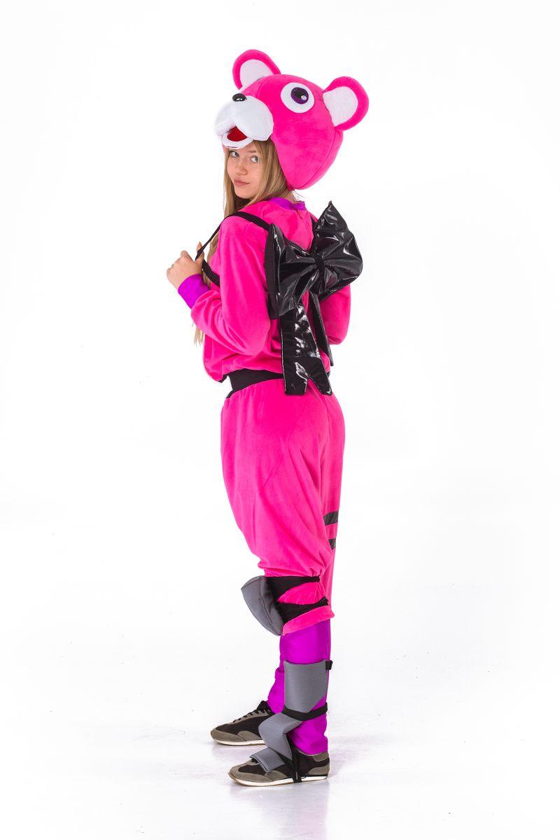 Масочка - Розовый мишка «Fortnite» карнавальный костюм для взрослых / фото №2855