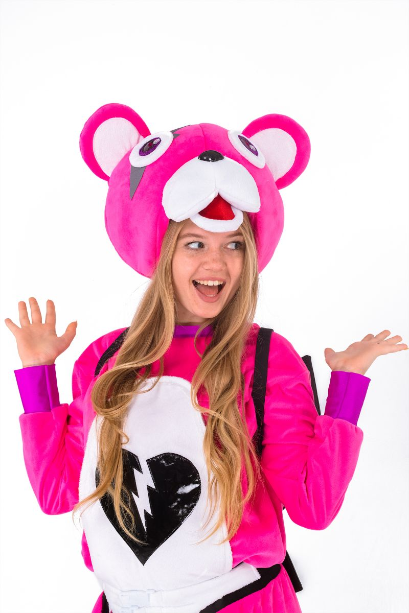 Масочка - Розовый мишка «Fortnite» карнавальный костюм для взрослых / фото №2857