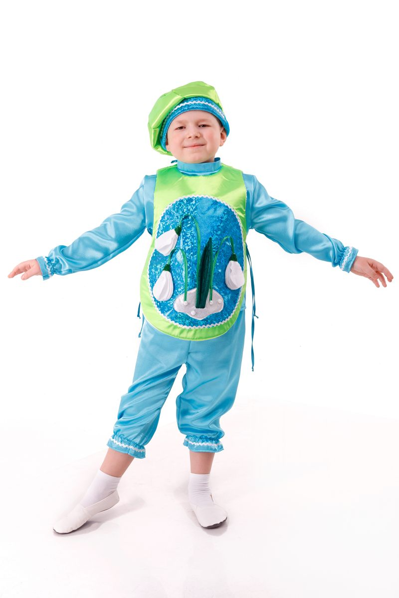 Масочка - «Подснежник» карнавальный костюм для мальчика / фото №2985