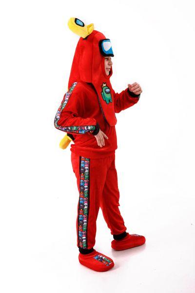 Красный AmongUs «Амонг Ас» карнавальный костюм для детей