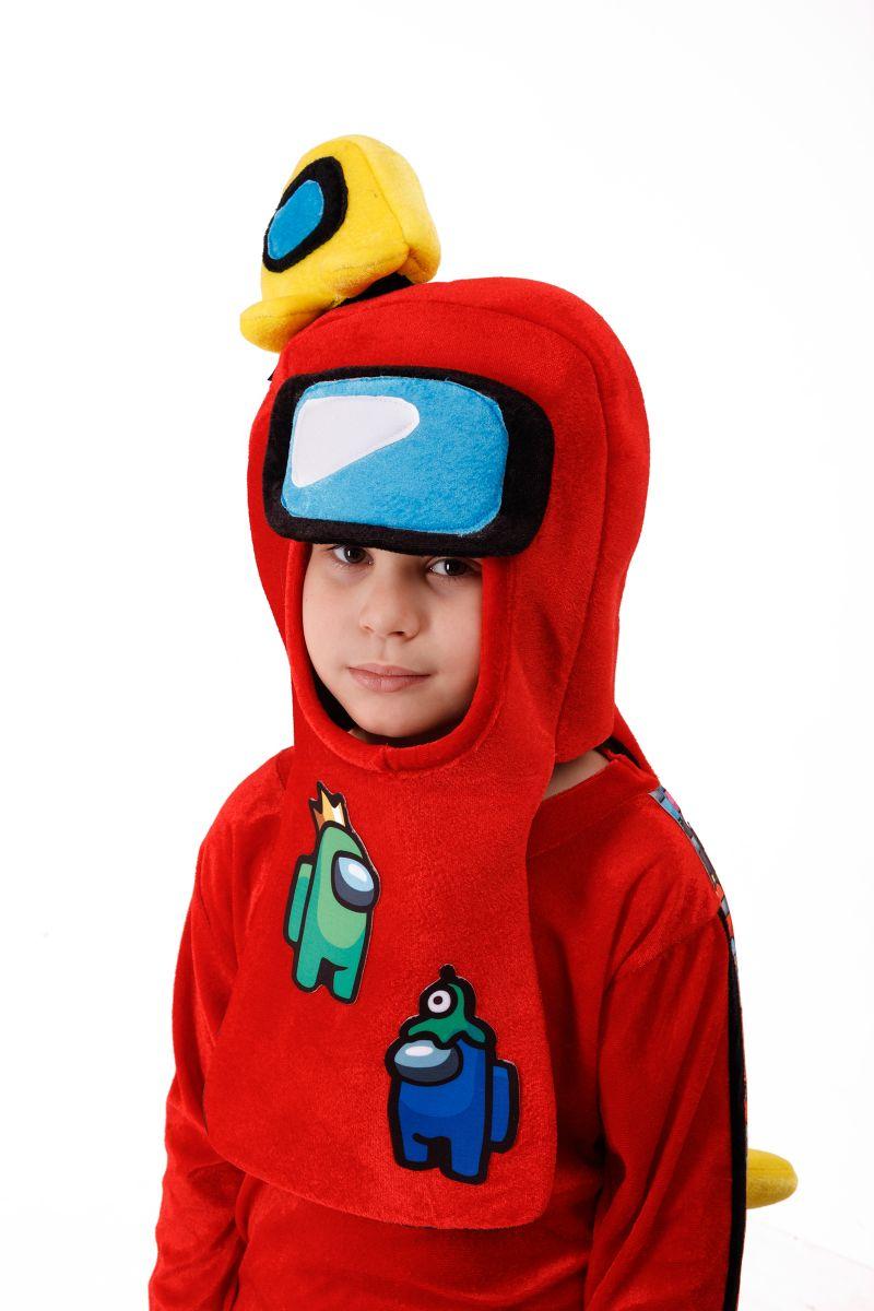 Масочка - Красный AmongUs «Амонг Ас» карнавальный костюм для детей / фото №3008