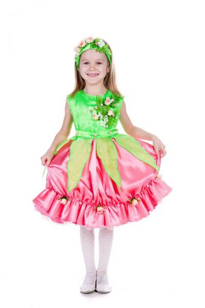 «Розочка» карнавальный костюм для девочки