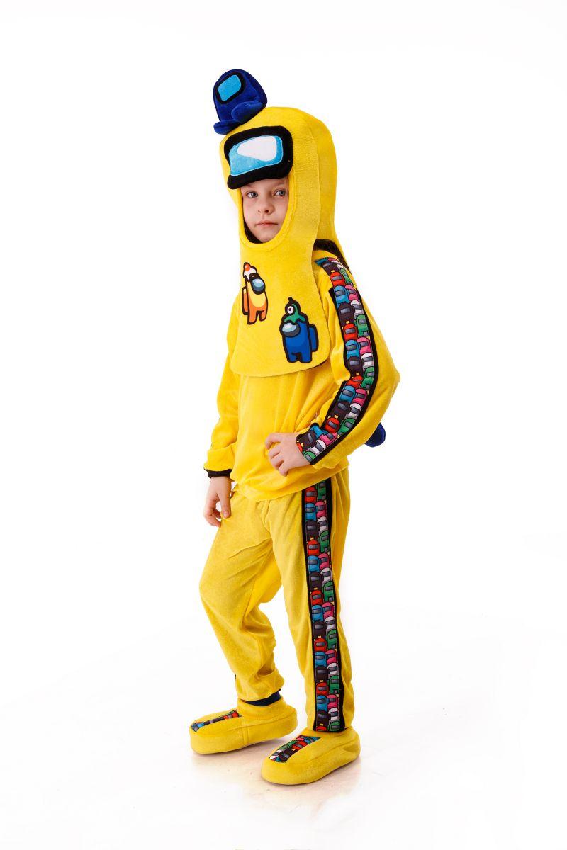 Масочка - Желтый AmongUs «Амонг Ас» карнавальный костюм для детей / фото №3013