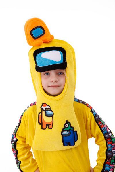 Желтый AmongUs «Амонг Ас» карнавальный костюм для детей