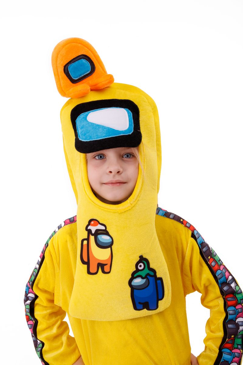 Масочка - Желтый AmongUs «Амонг Ас» карнавальный костюм для детей / фото №3016