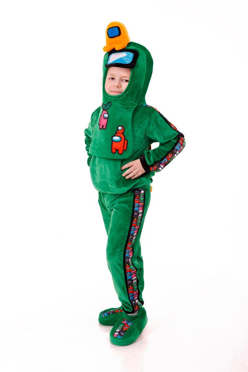 Масочка - Зеленый AmongUs «Амонг Ас» карнавальный костюм для детей / фото №3019