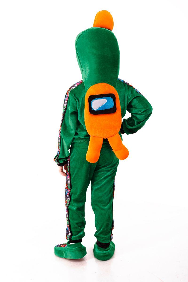 Масочка - Зеленый AmongUs «Амонг Ас» карнавальный костюм для детей / фото №3020