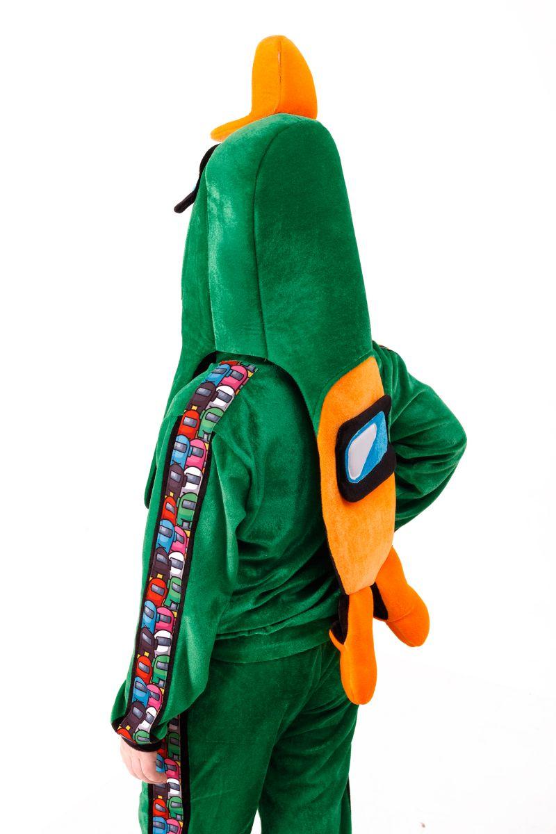 Масочка - Зеленый AmongUs «Амонг Ас» карнавальный костюм для детей / фото №3021