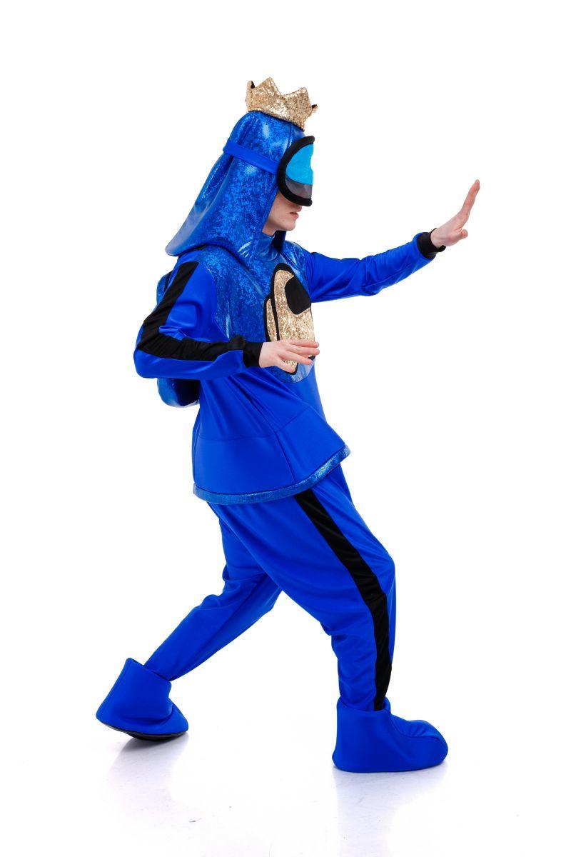 Масочка - Синий AmongUs «Амонг Ас» карнавальный костюм для аниматоров / фото №3032