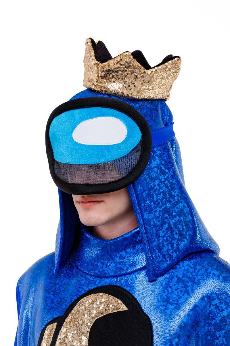 Масочка - Синий AmongUs «Амонг Ас» карнавальный костюм для аниматоров / фото №3033
