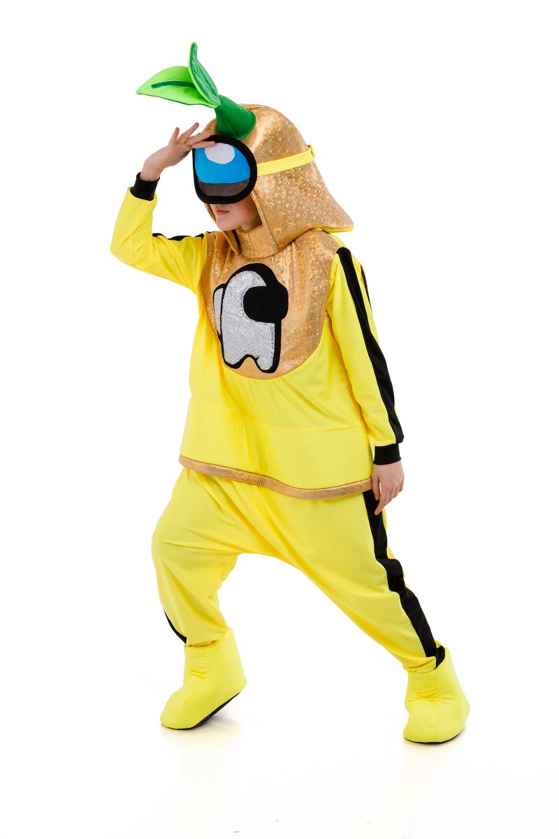 Масочка - Желтый AmongUs «Амонг Ас» карнавальный костюм для аниматоров / фото №3036