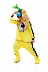 Желтый AmongUs «Амонг Ас» карнавальный костюм для аниматоров - 3036