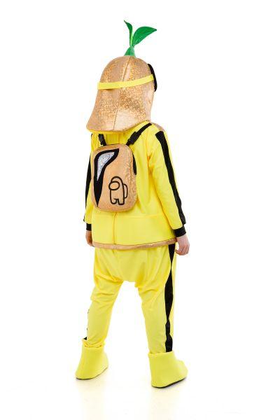 Желтый AmongUs «Амонг Ас» карнавальный костюм для аниматоров
