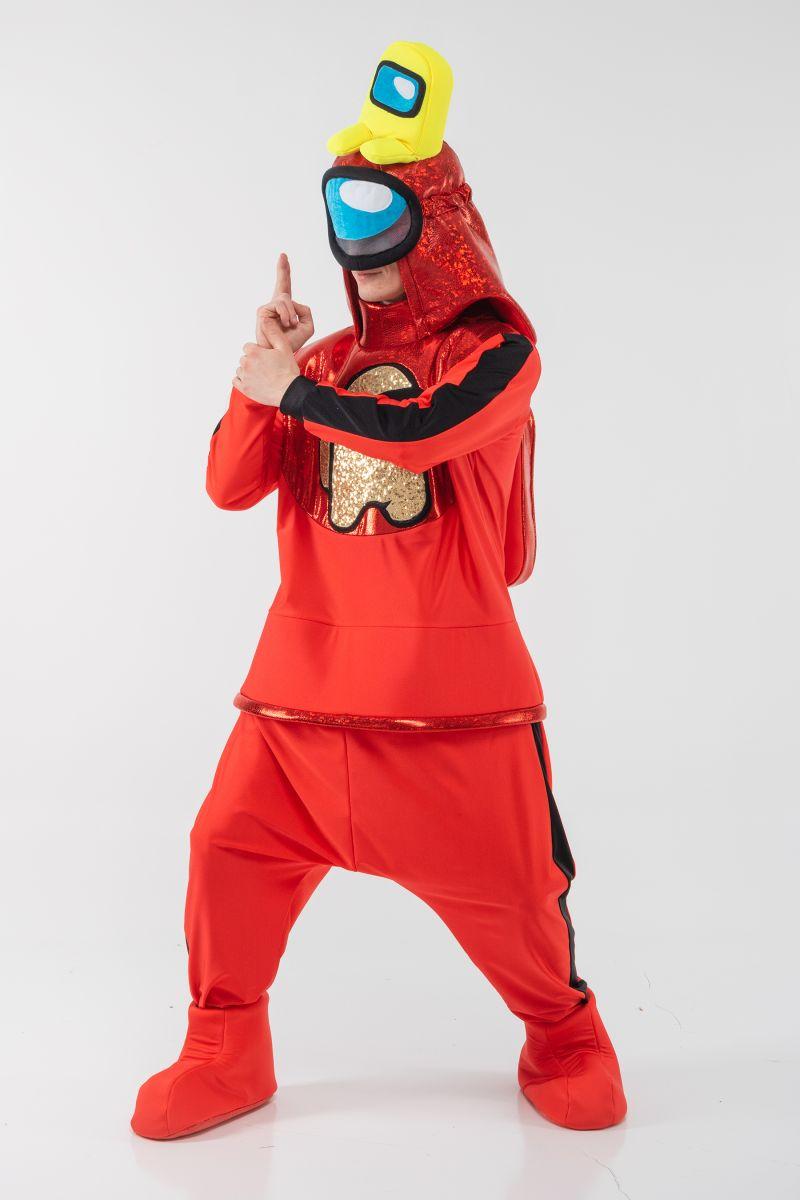 Красный AmongUs «Амонг Ас» карнавальный костюм для аниматоров