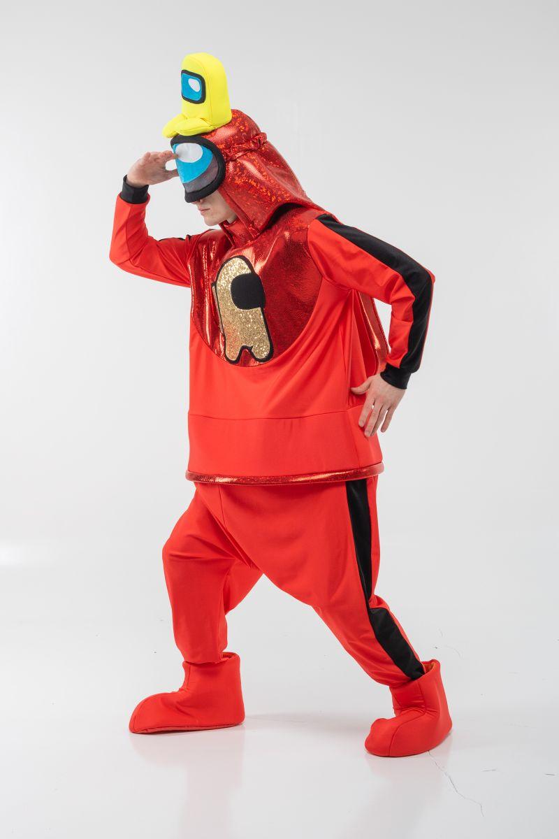 Масочка - Красный AmongUs «Амонг Ас» карнавальный костюм для аниматоров / фото №3069