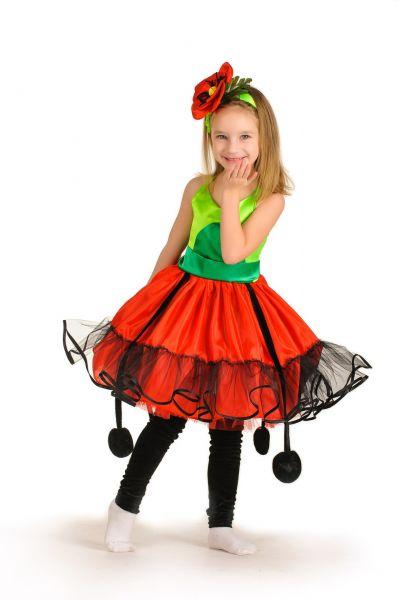 «Мак» карнавальный костюм для девочки