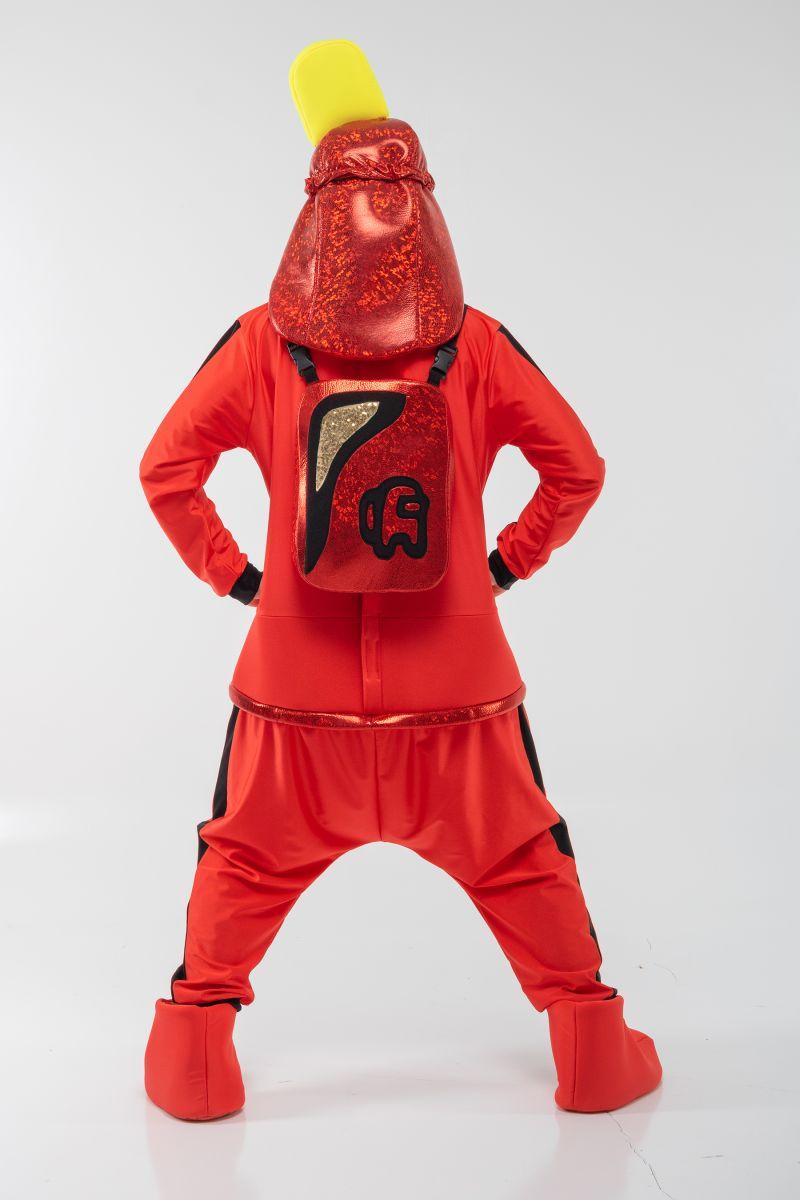 Масочка - Красный AmongUs «Амонг Ас» карнавальный костюм для аниматоров / фото №3070