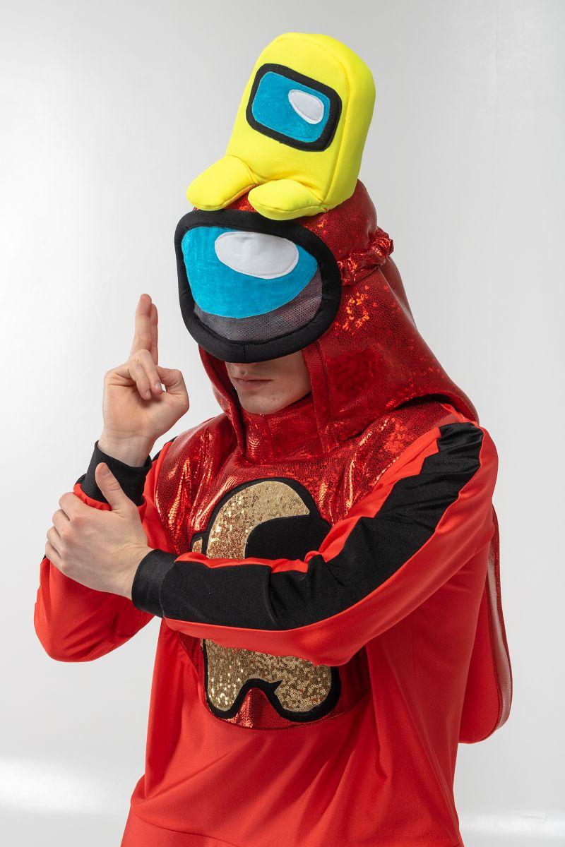 Масочка - Красный AmongUs «Амонг Ас» карнавальный костюм для аниматоров / фото №3072